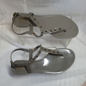 Colors of California size 38 Gray Jelly Sandals